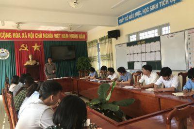 Trường THPT Nguyễn Chí Thanh chuẩn bị tốt nhất các điều kiện để đón học sinh trở lại trường.